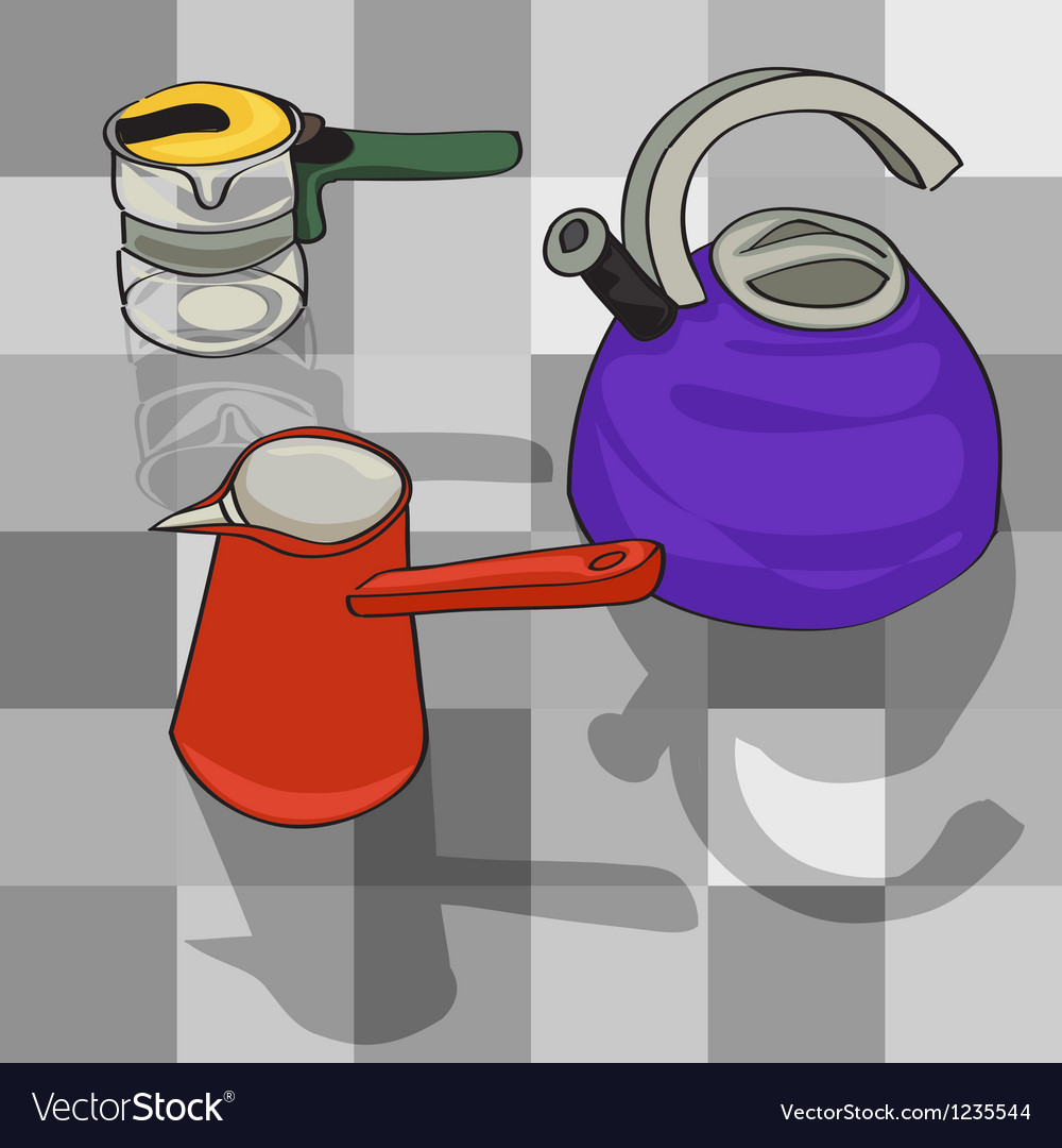 Kitchen kettles vector | Price: 1 Credit (USD $1)