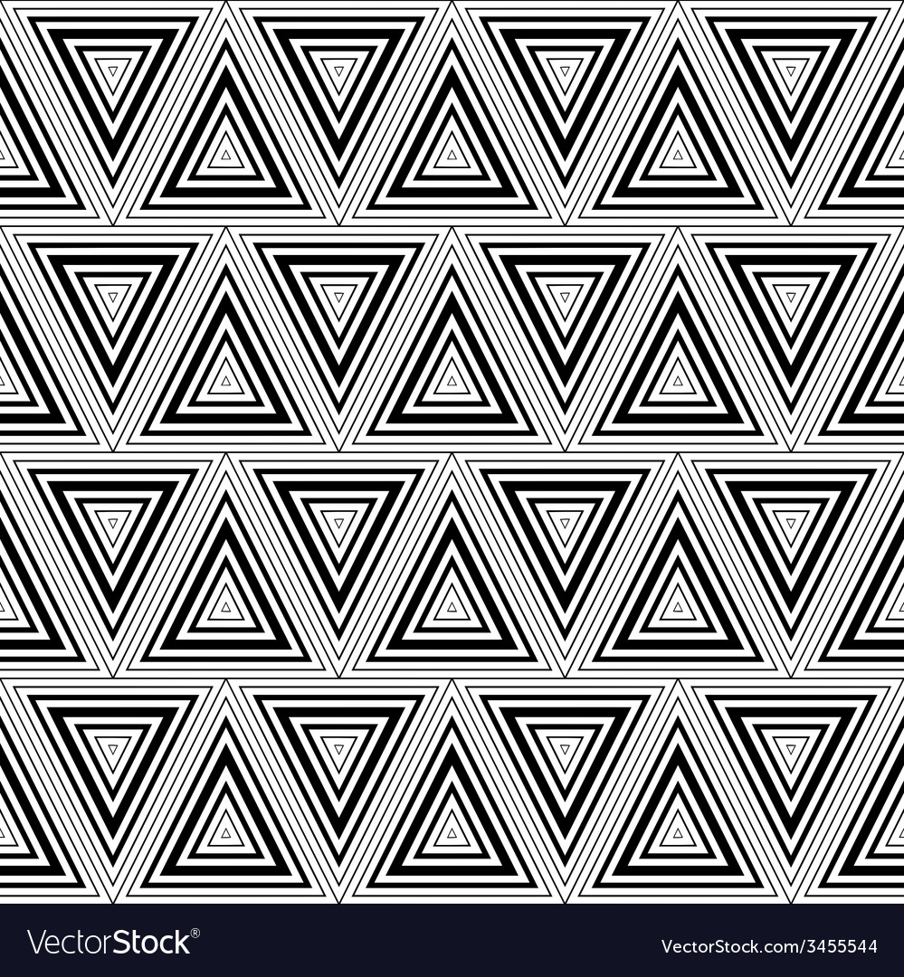 Seamless geometric black and white stripes vector | Price: 1 Credit (USD $1)