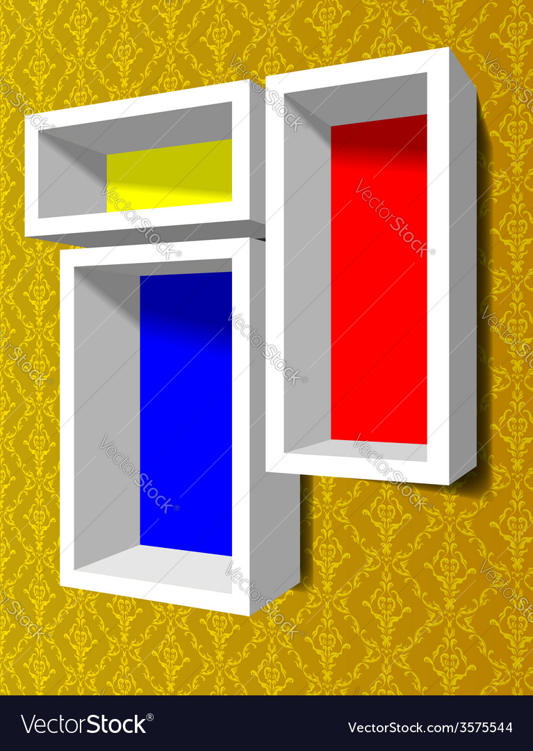 Shelves on the wall vector | Price: 1 Credit (USD $1)