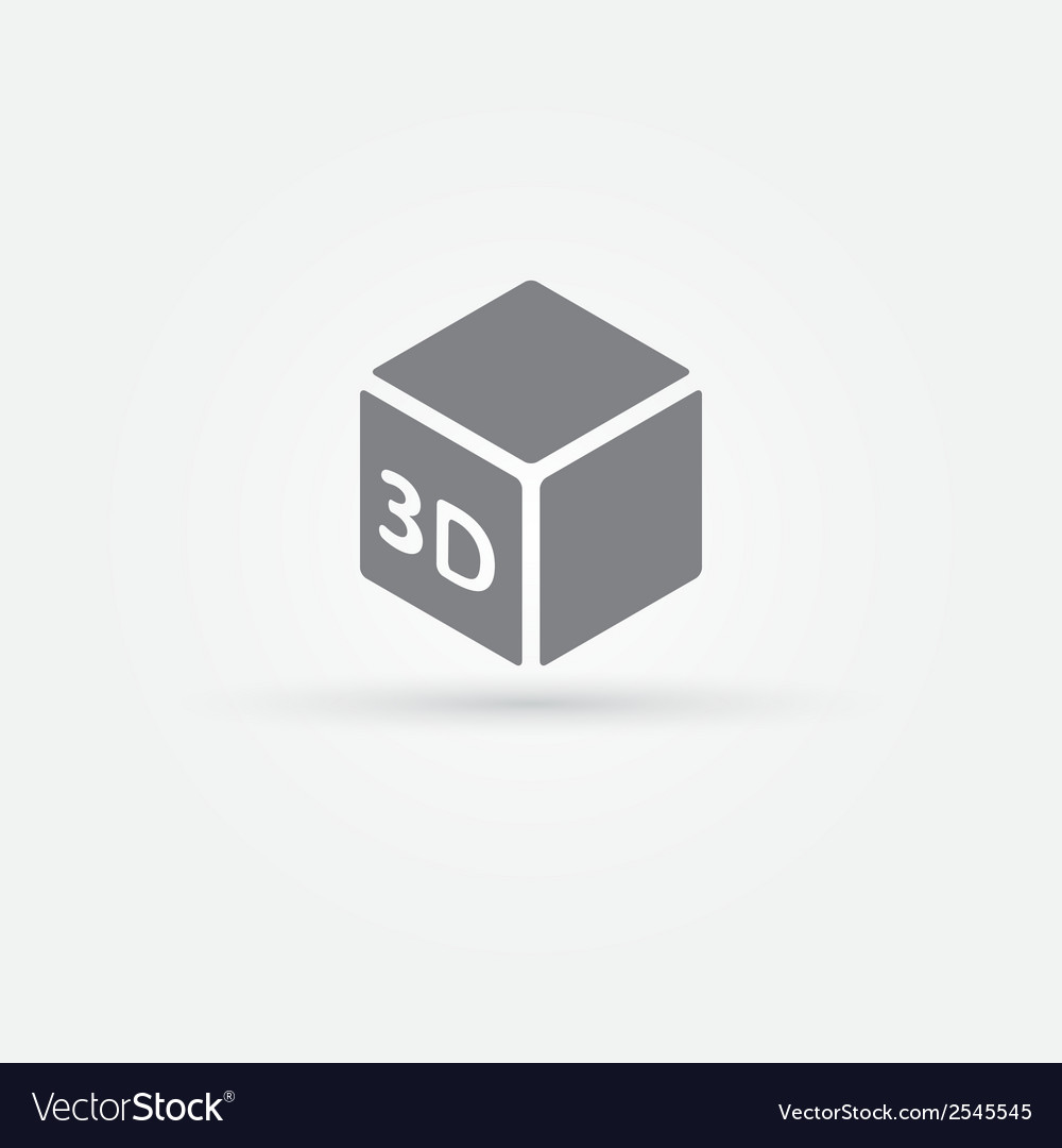 3d print icon vector | Price: 1 Credit (USD $1)