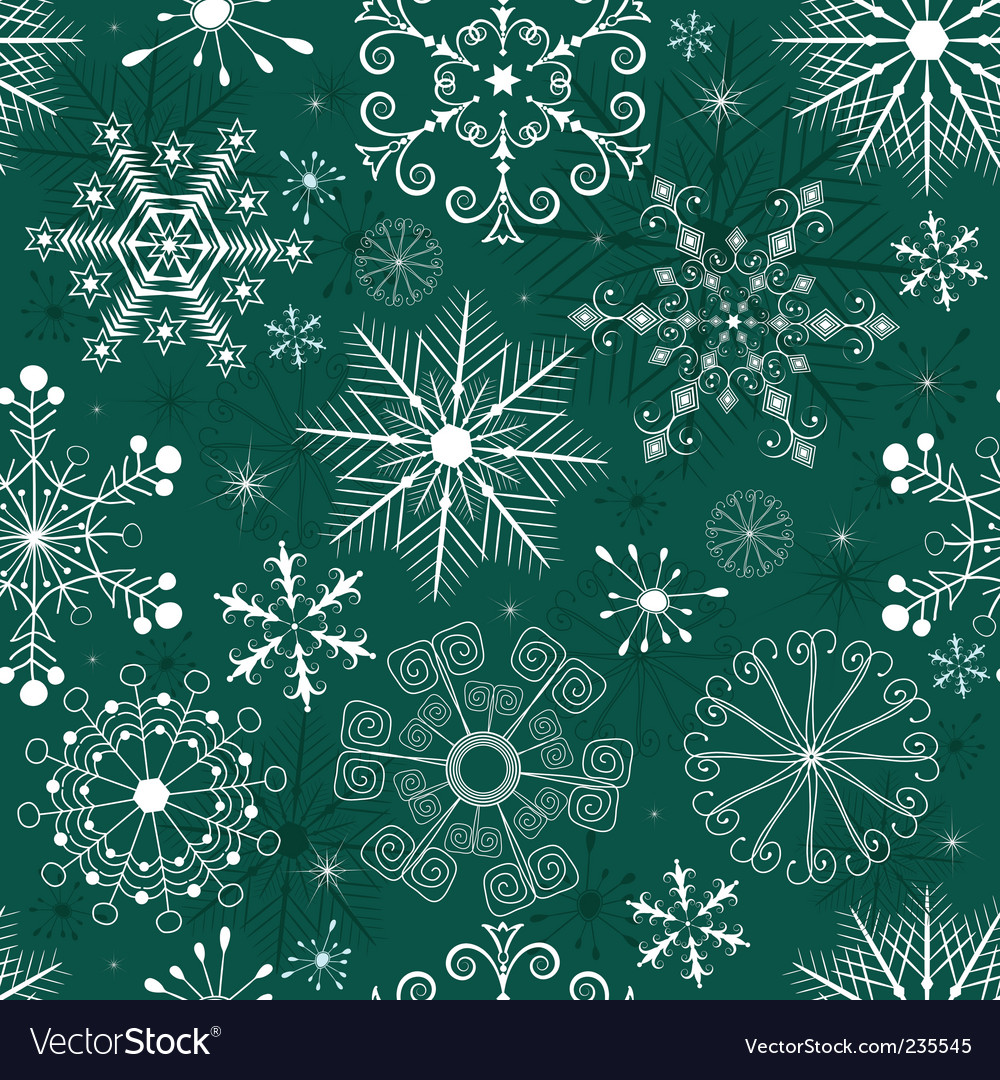 Christmas seamless green white pattern vector | Price: 1 Credit (USD $1)