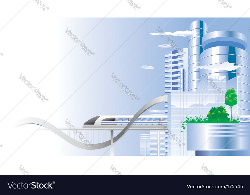 City of the future vector | Price: 3 Credit (USD $3)