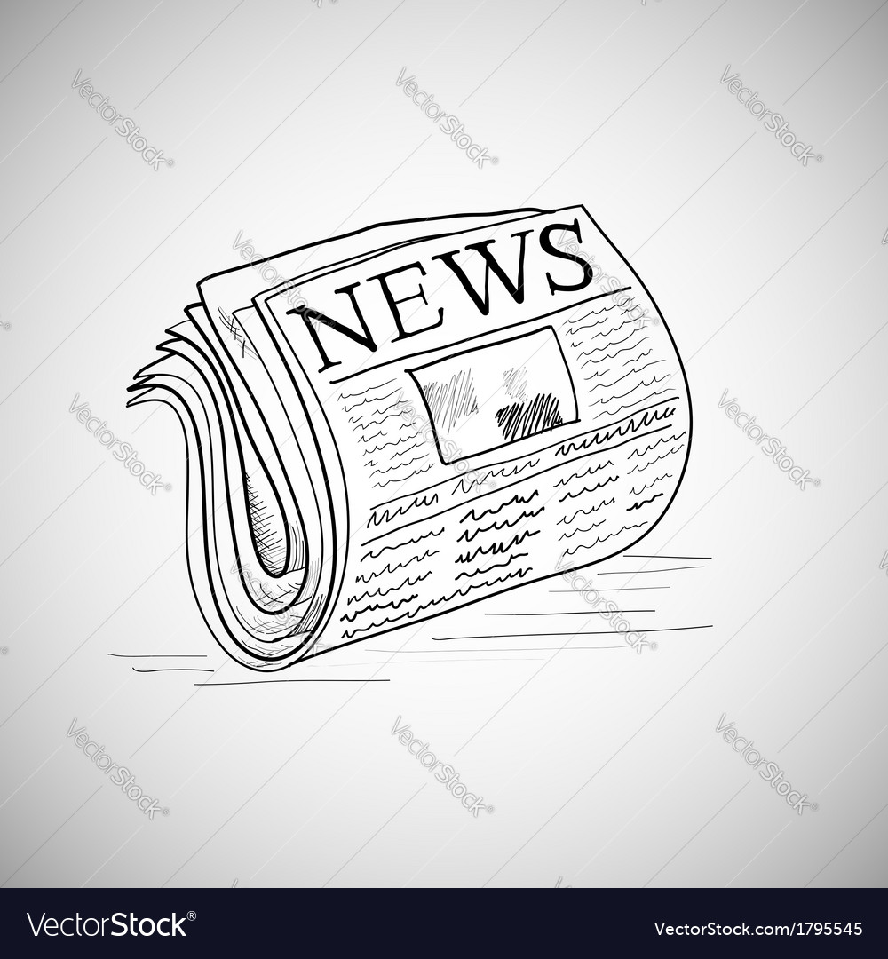 Doodle style newspaper in format vector | Price: 1 Credit (USD $1)