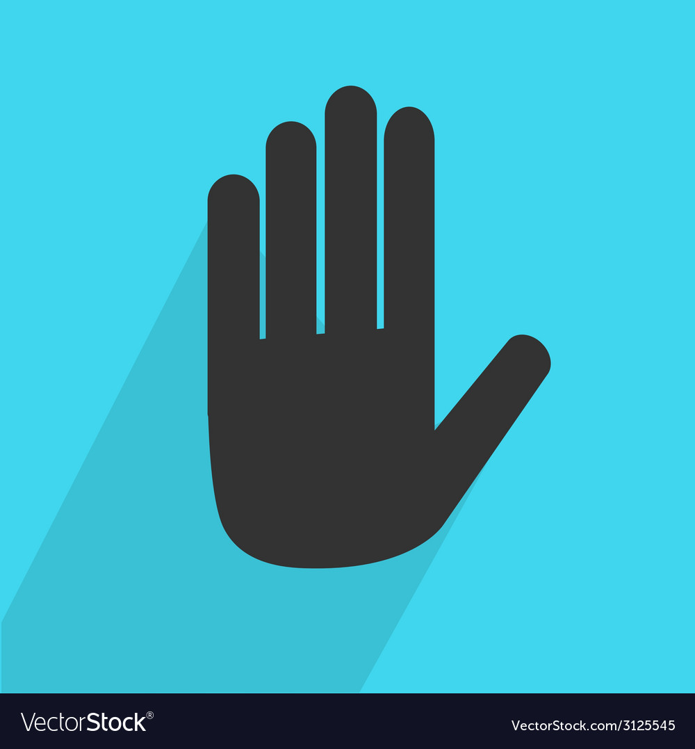 Hand stop icon vector | Price: 1 Credit (USD $1)