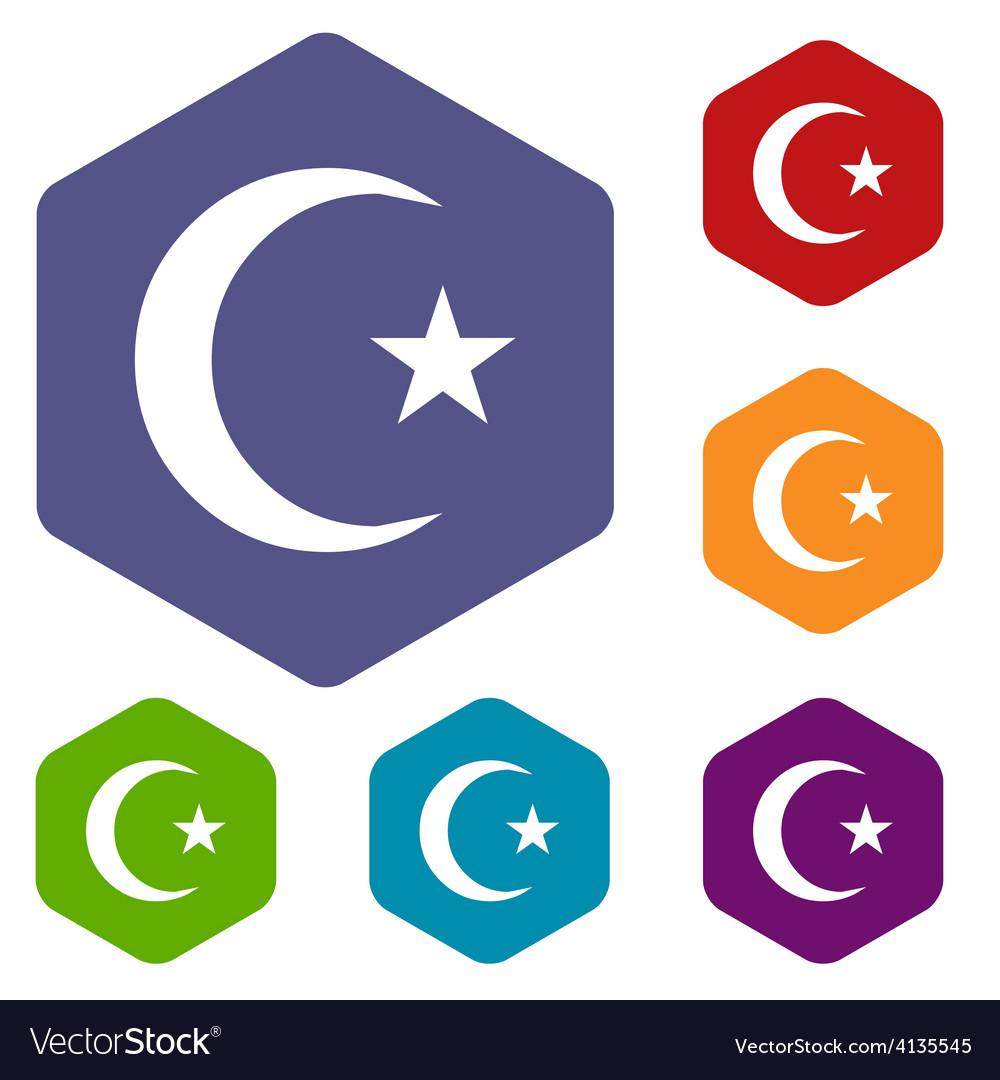 Islam rhombus icons vector | Price: 1 Credit (USD $1)