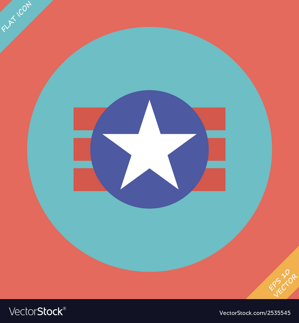 National of the usa symbolism icon vector | Price: 1 Credit (USD $1)