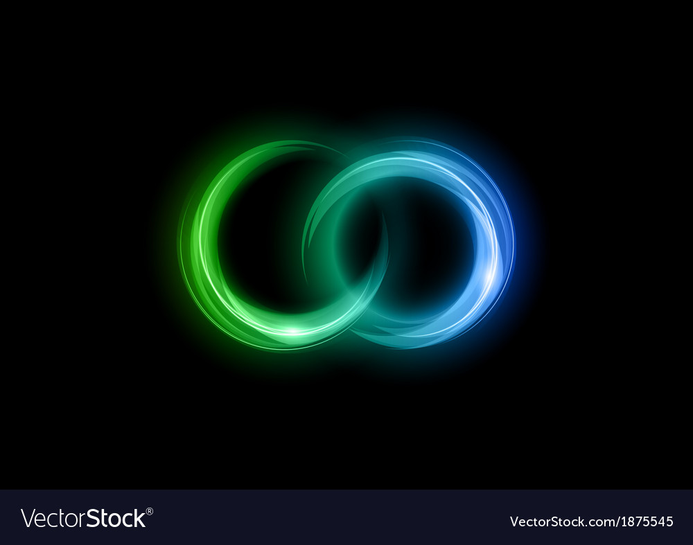 Neon light dark green blue vector | Price: 1 Credit (USD $1)