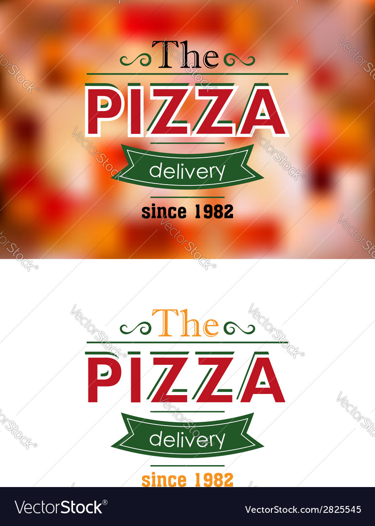 Retro pizza label or banner vector | Price: 1 Credit (USD $1)