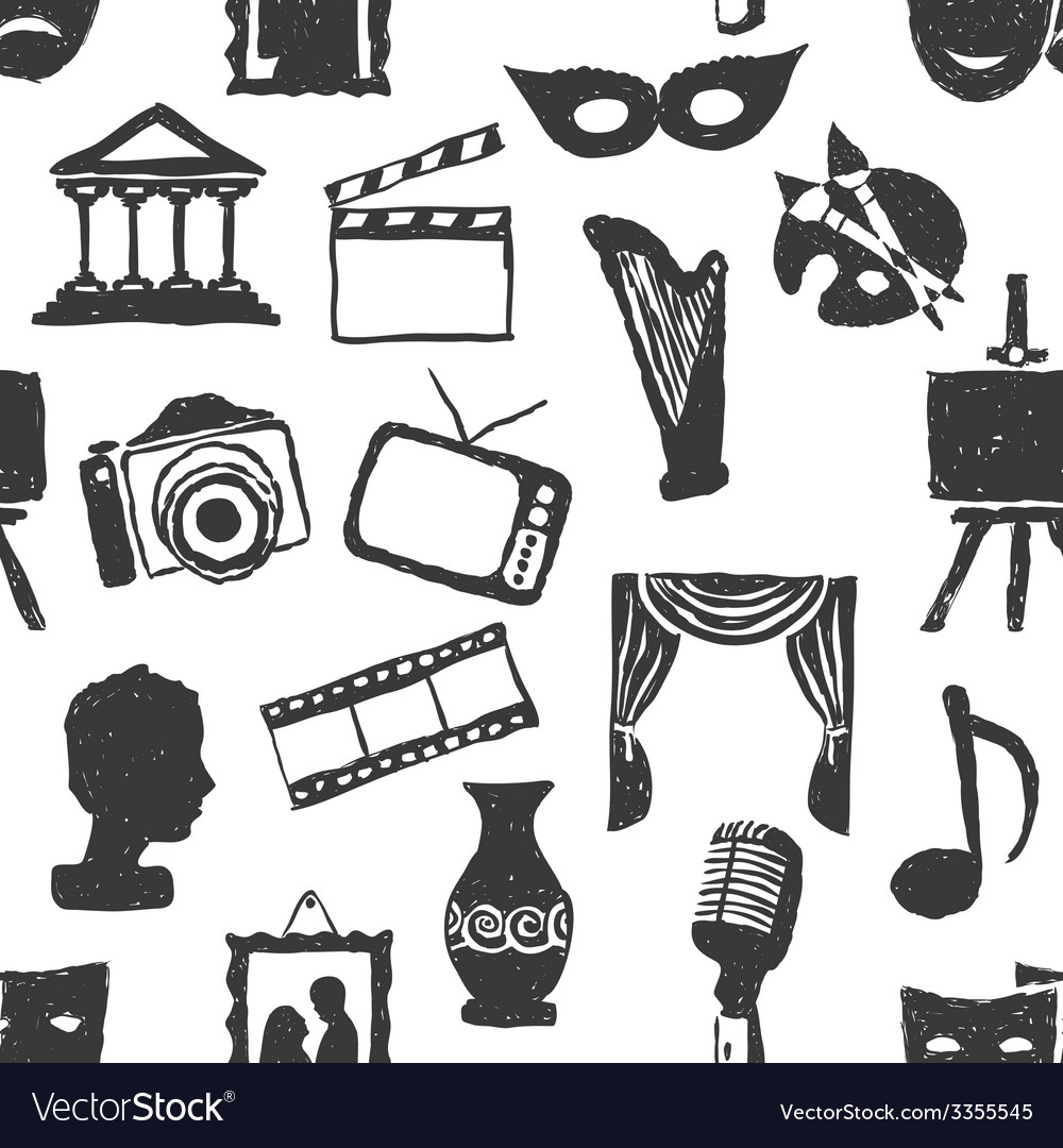 Seamless doodle culture pattern vector   Price: 1 Credit (USD $1)