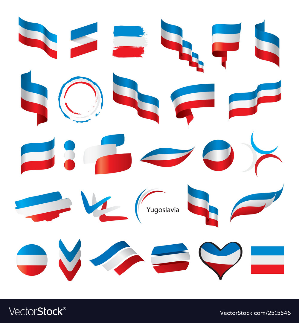 Biggest collection of flags of yugoslavia vector | Price: 1 Credit (USD $1)