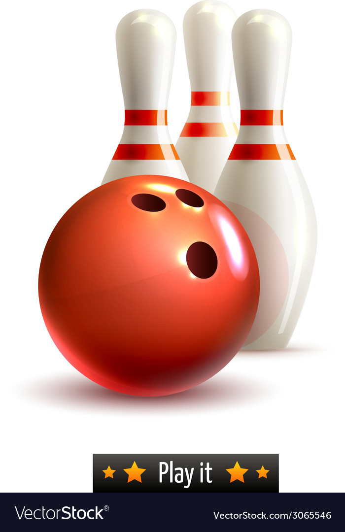 Bowling isolated set vector | Price: 1 Credit (USD $1)