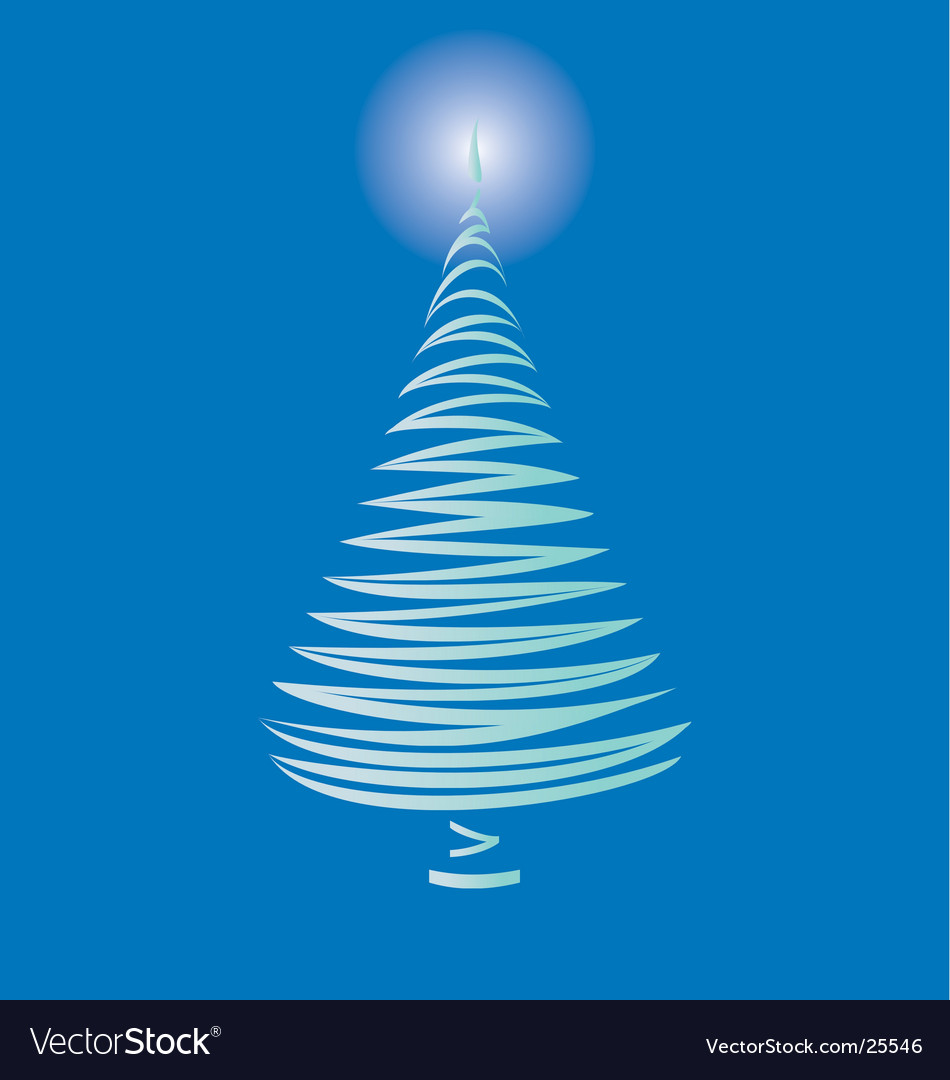 Christmas tree on blue vector | Price: 1 Credit (USD $1)