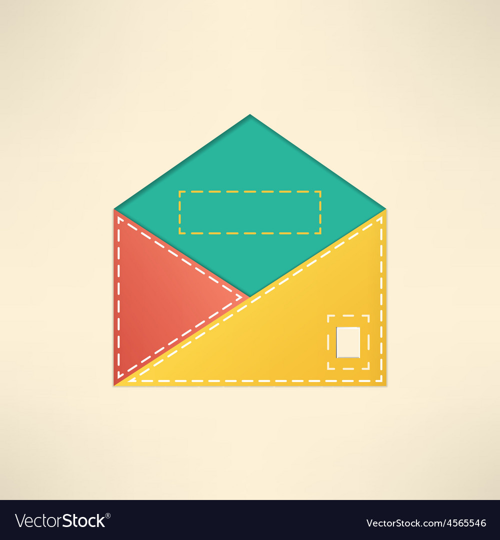 Colorful envelope with copyspace mail and vector | Price: 1 Credit (USD $1)