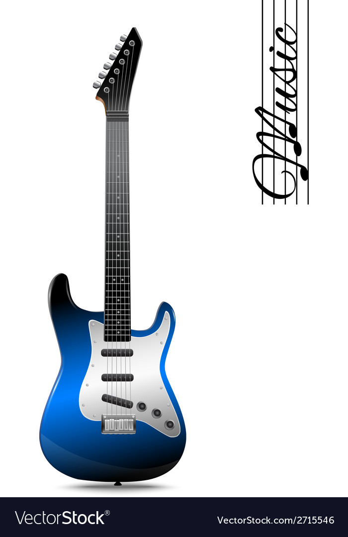 Electric guitar isolated vector | Price: 1 Credit (USD $1)