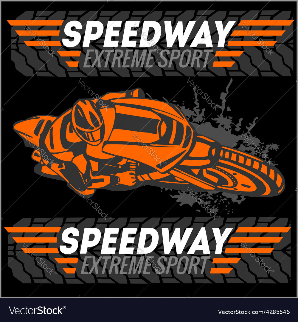 Motorcycle - extreme sport emblem vector | Price: 3 Credit (USD $3)
