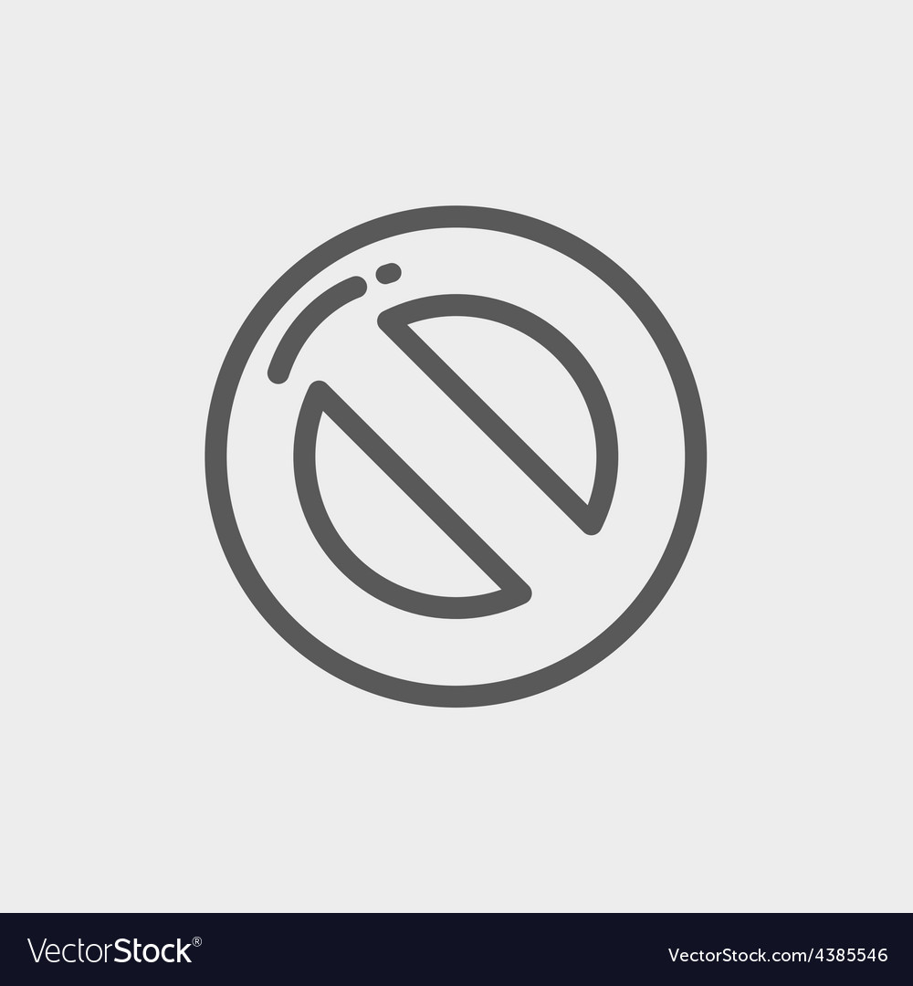 Not allowed thin line icon vector | Price: 1 Credit (USD $1)