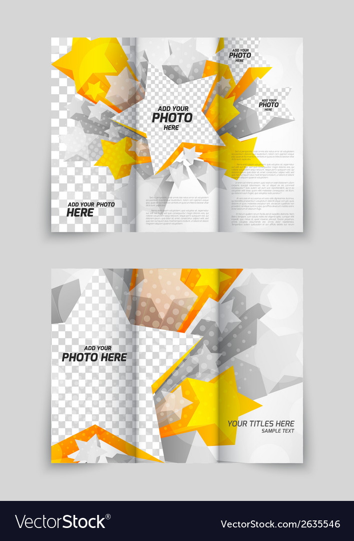 Orange stars brochure vector | Price: 1 Credit (USD $1)