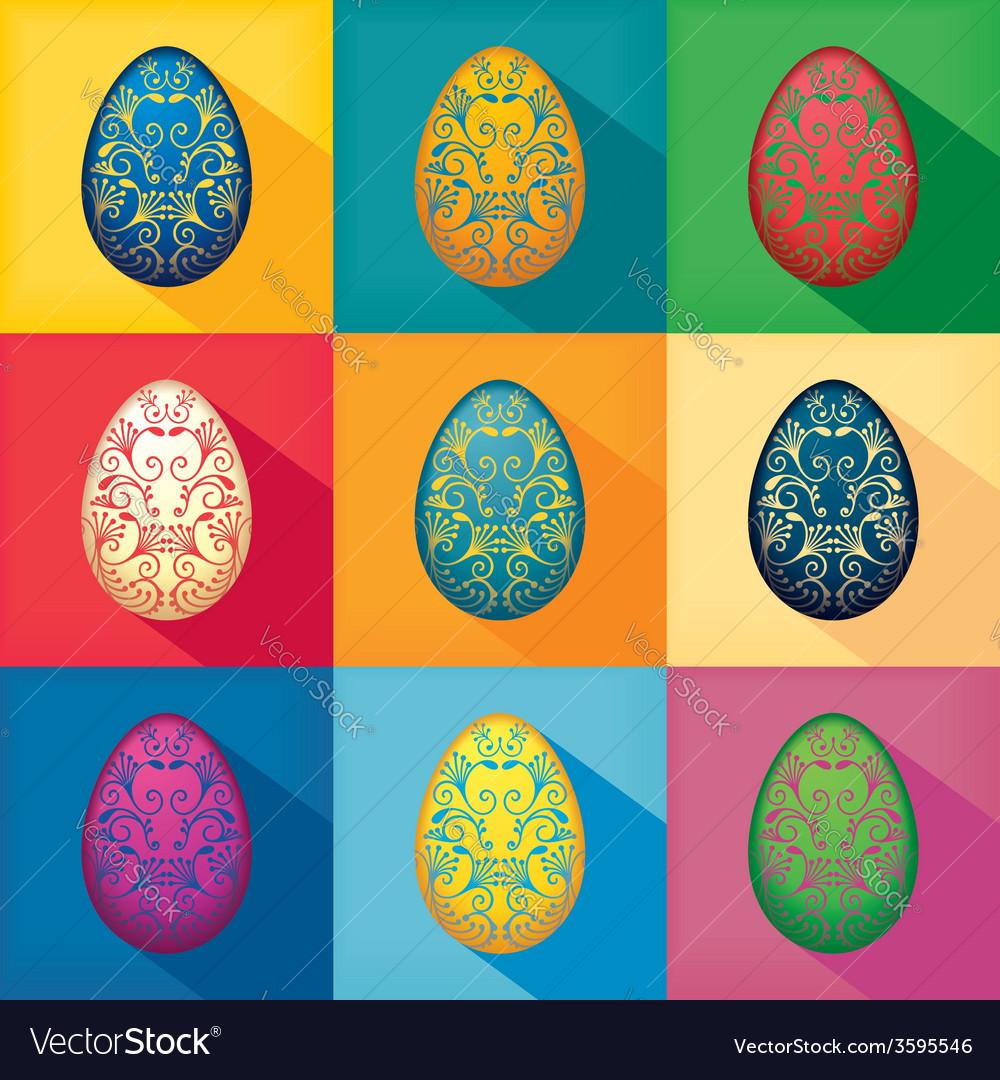 Ornamented eggs design vector | Price: 1 Credit (USD $1)