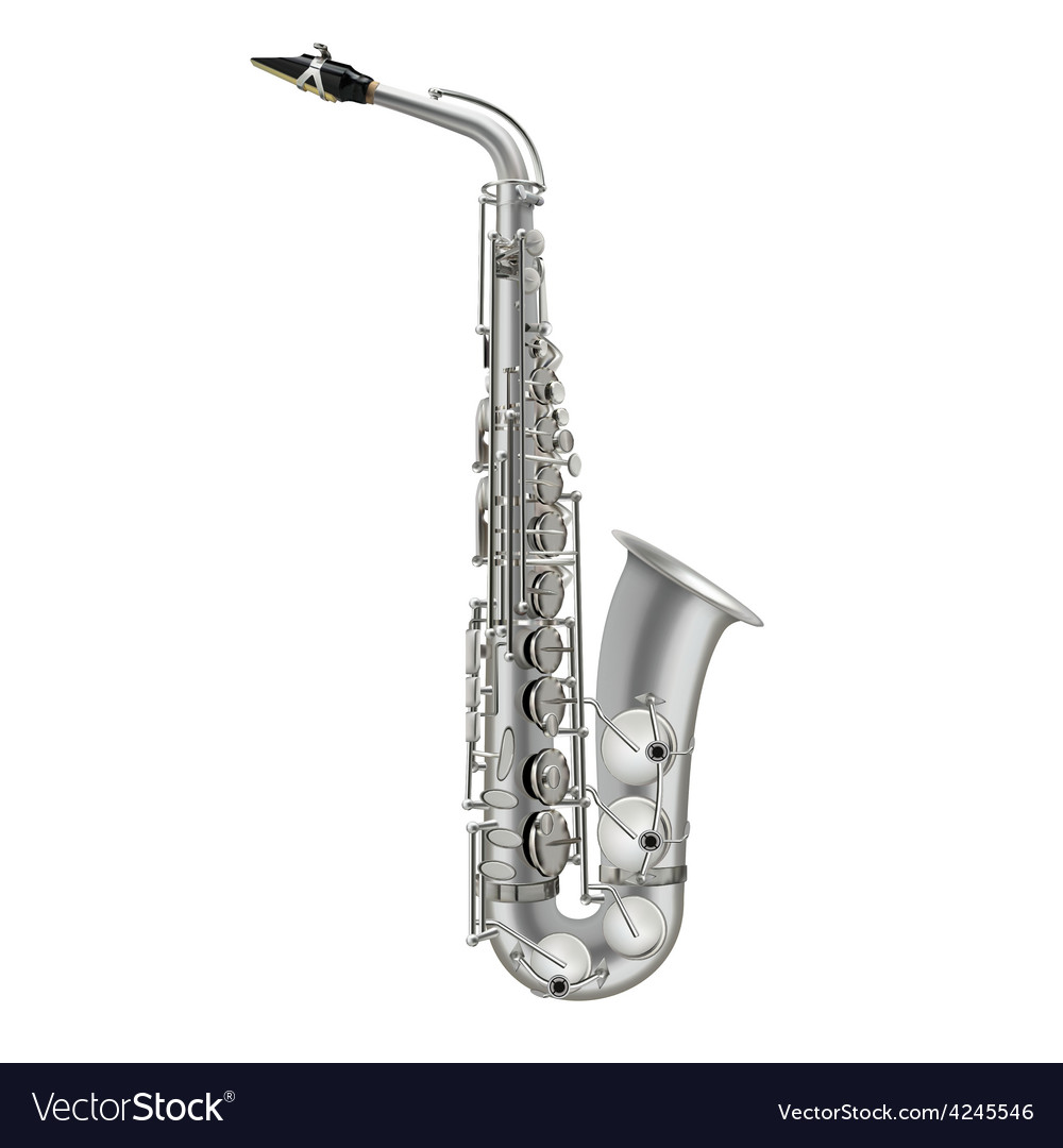 Photorealistic saxophone isolated on a white vector | Price: 3 Credit (USD $3)