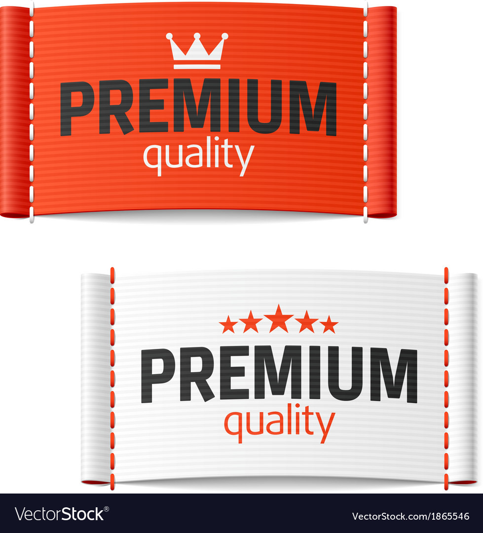 Premium quality clothing label vector | Price: 1 Credit (USD $1)