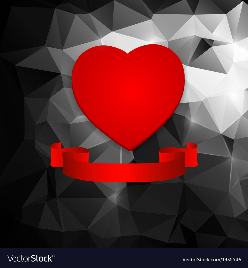 Red heart on an abstract background vector   Price: 1 Credit (USD $1)