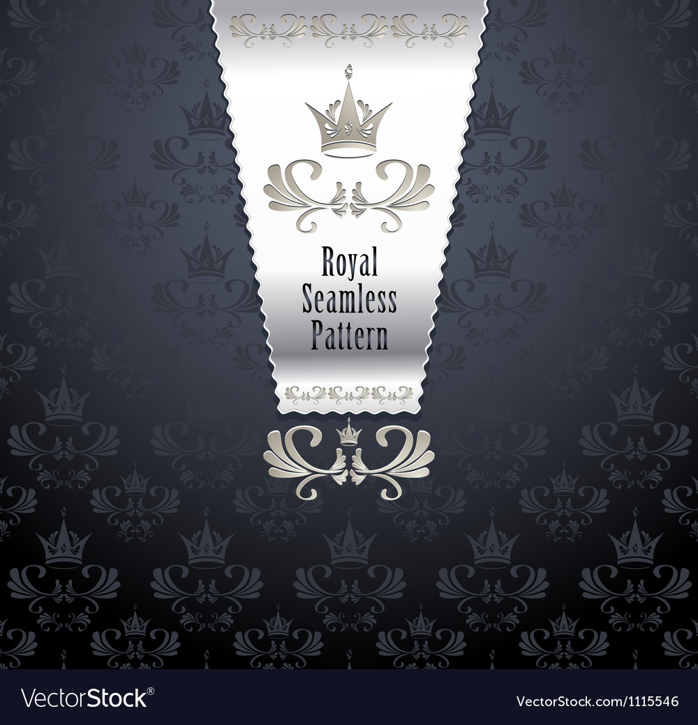 Royal seamless pattern with crown vector | Price: 1 Credit (USD $1)