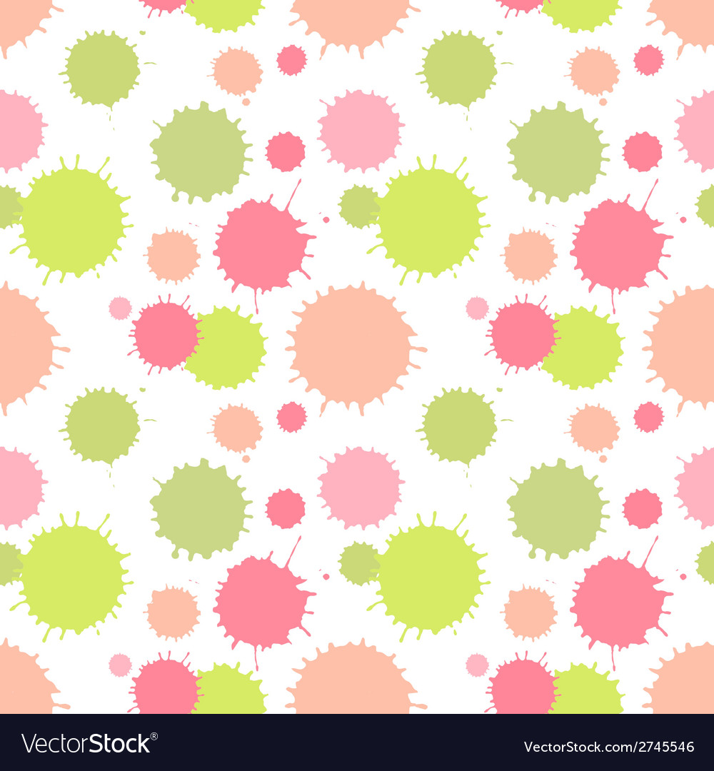 Seamless pattern with painted splash texture vector | Price: 1 Credit (USD $1)