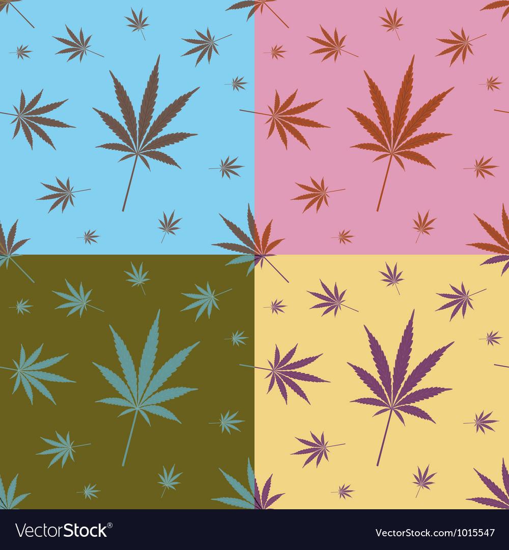 Cannabis leaf pattern vector | Price: 1 Credit (USD $1)
