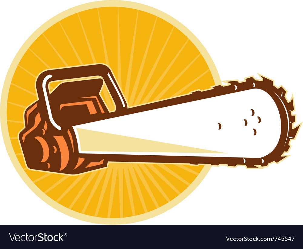 Chain saw vector | Price: 1 Credit (USD $1)