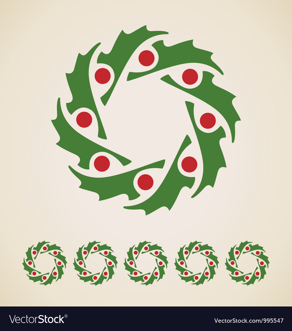 Christmas garland vector | Price: 1 Credit (USD $1)
