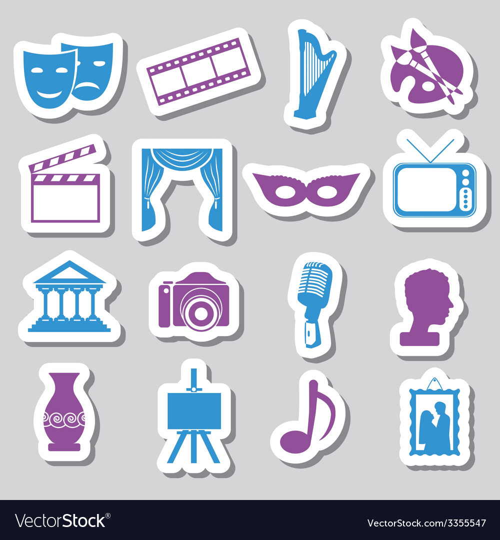 Culture stickers vector | Price: 1 Credit (USD $1)