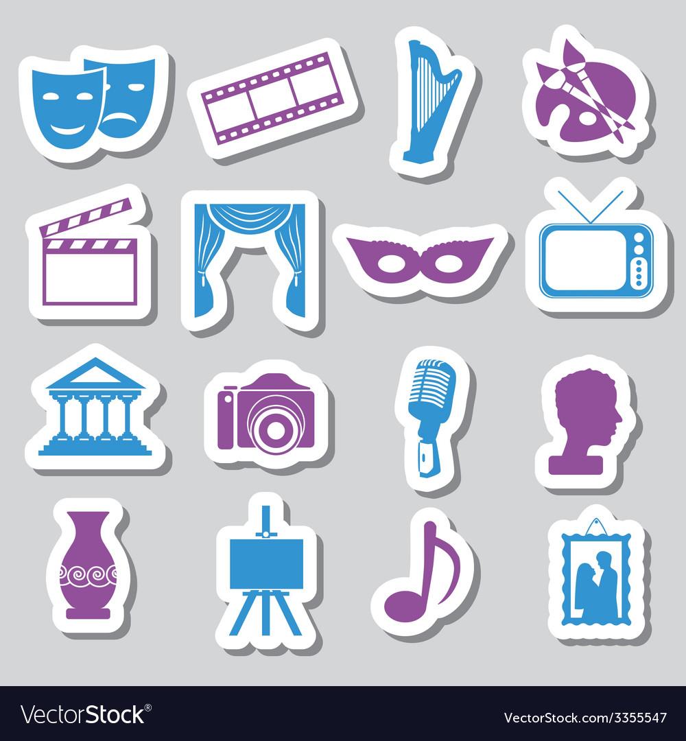 Culture stickers vector   Price: 1 Credit (USD $1)