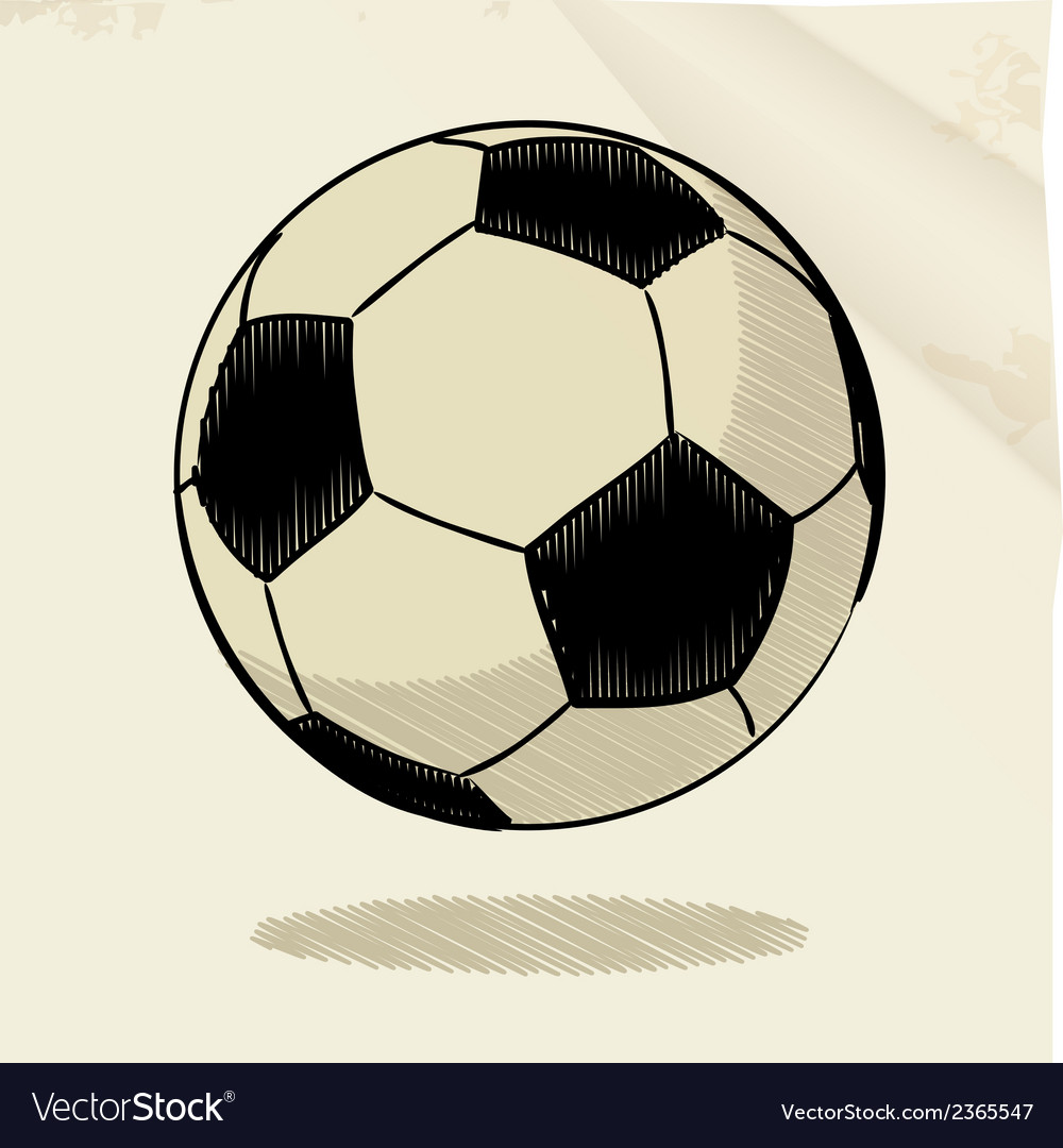 Football sketch vector | Price: 1 Credit (USD $1)
