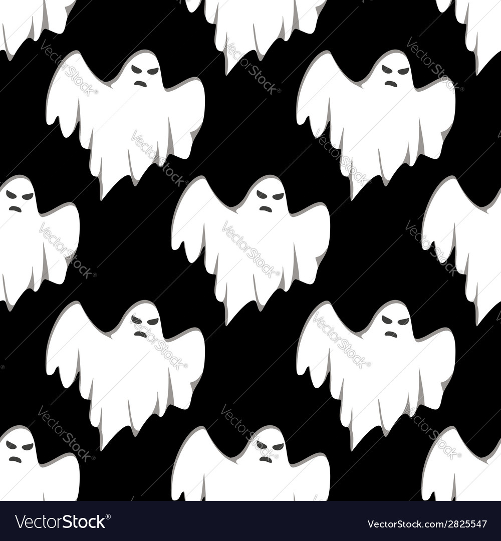 Ghost halloween seamless pattern vector | Price: 1 Credit (USD $1)