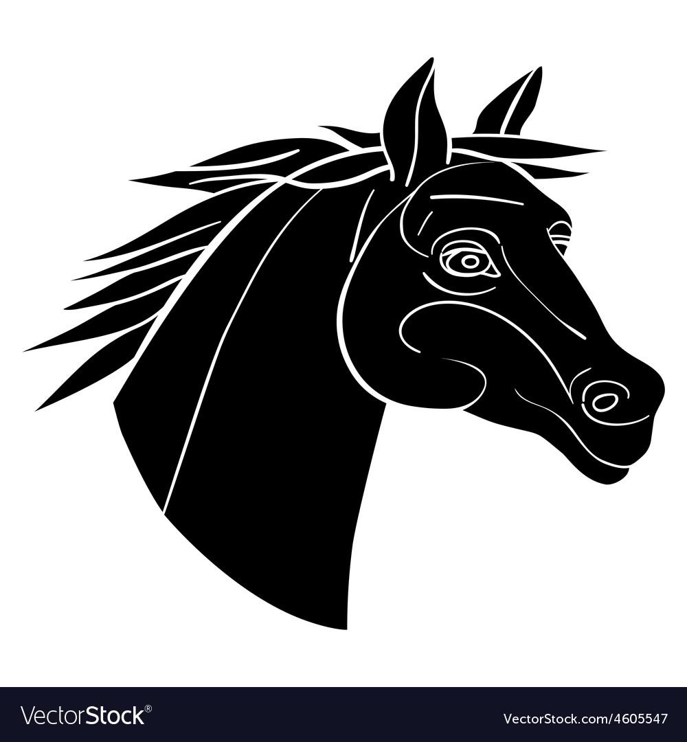 Horse avatar vector | Price: 1 Credit (USD $1)