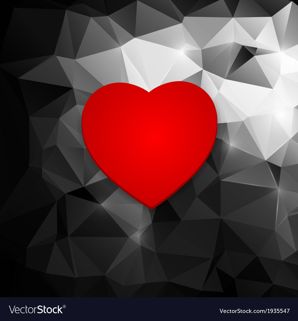 Red heart on an abstract background vector | Price: 1 Credit (USD $1)