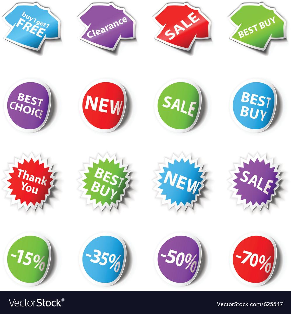 Sale stickers vector | Price: 1 Credit (USD $1)