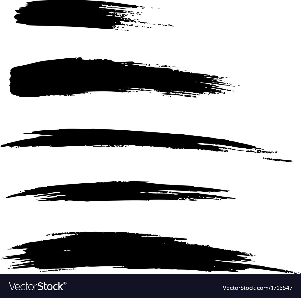 Set of hand drawn grunge brush lines vector | Price: 1 Credit (USD $1)