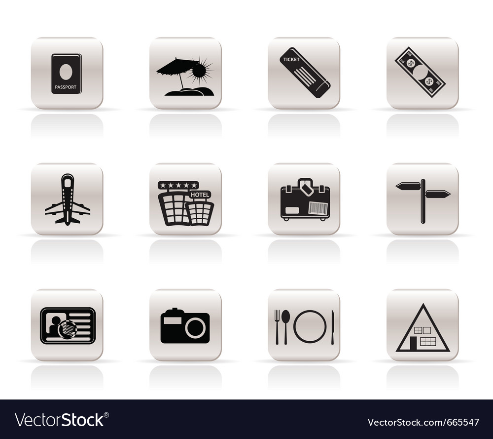 Simple travel and trip icons vector | Price: 1 Credit (USD $1)