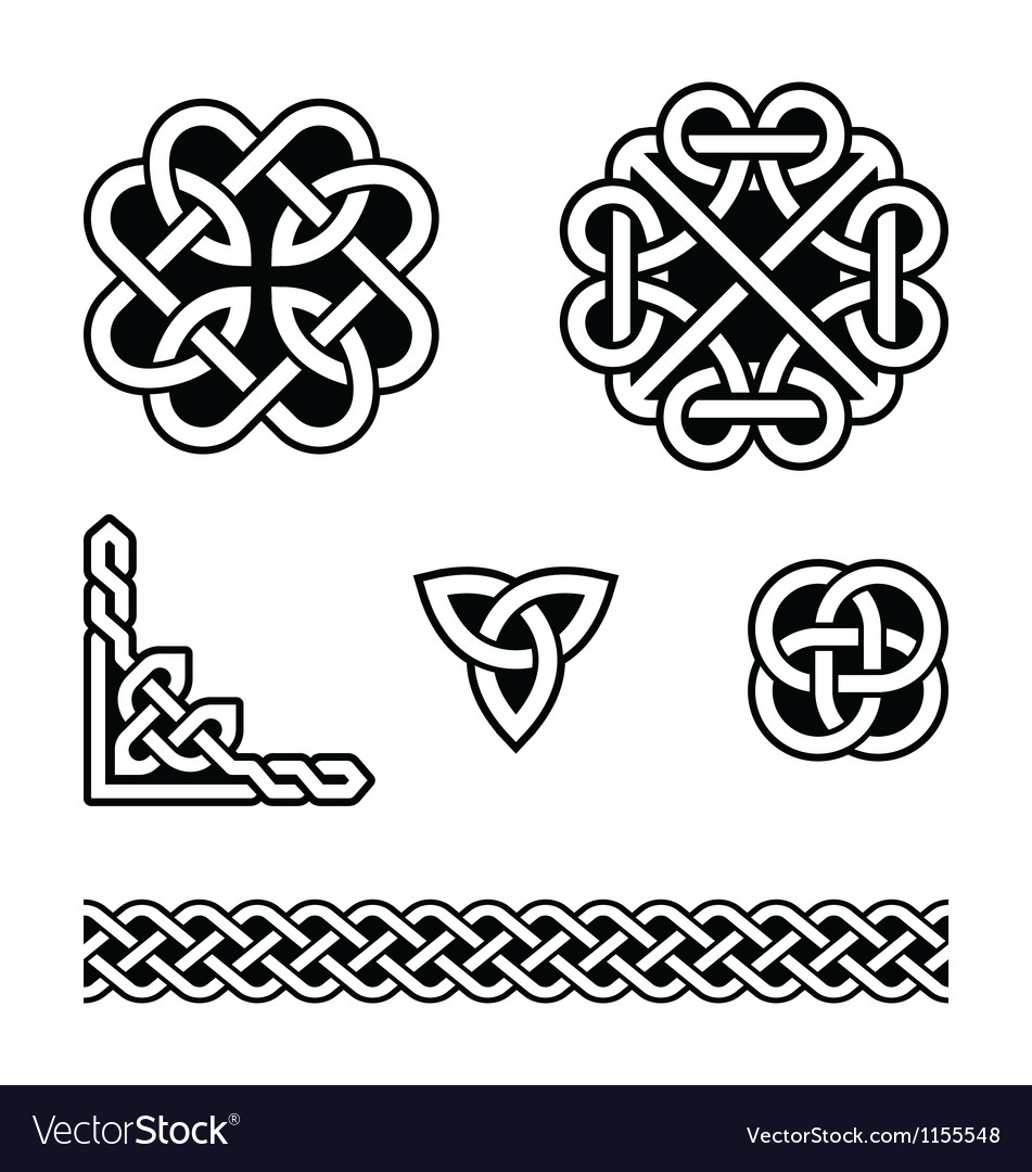 Celtic knots patterns  vector