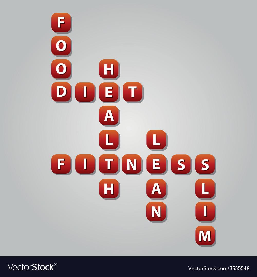 Diet crossword vector | Price: 1 Credit (USD $1)