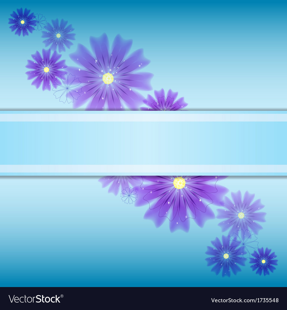 Floral background invitation with colorfull vector | Price: 1 Credit (USD $1)