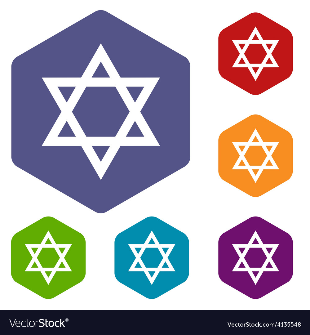 Judaism rhombus icons vector | Price: 1 Credit (USD $1)