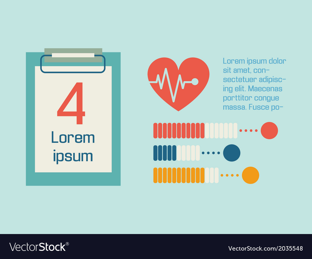 Medical infographic vector   Price: 1 Credit (USD $1)