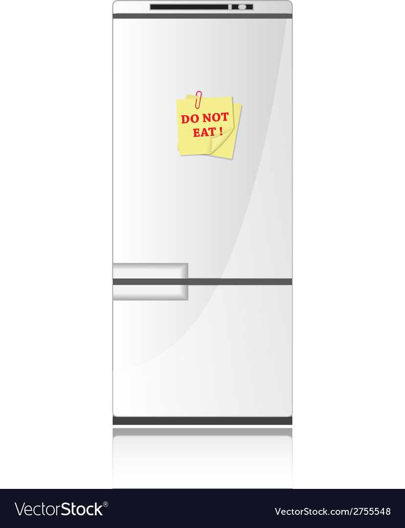 Refrigerator and diet vector | Price: 1 Credit (USD $1)