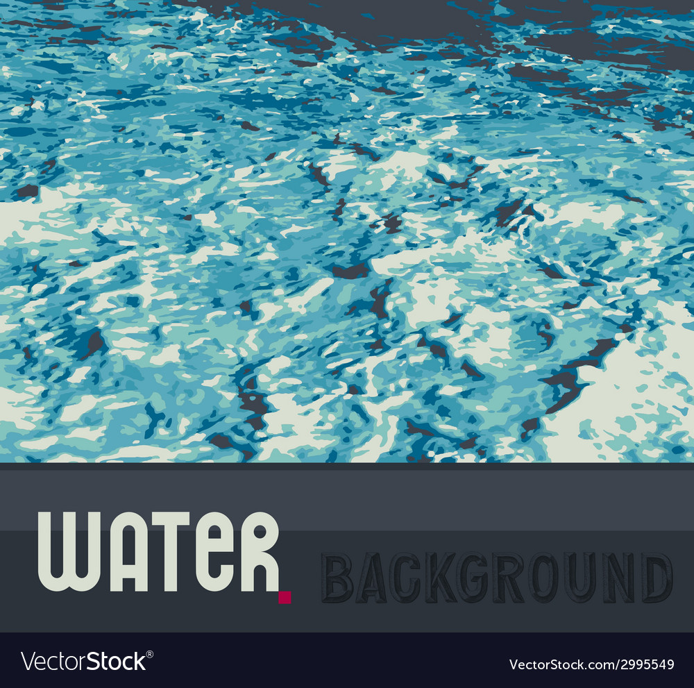 Abstract water background vector | Price: 1 Credit (USD $1)
