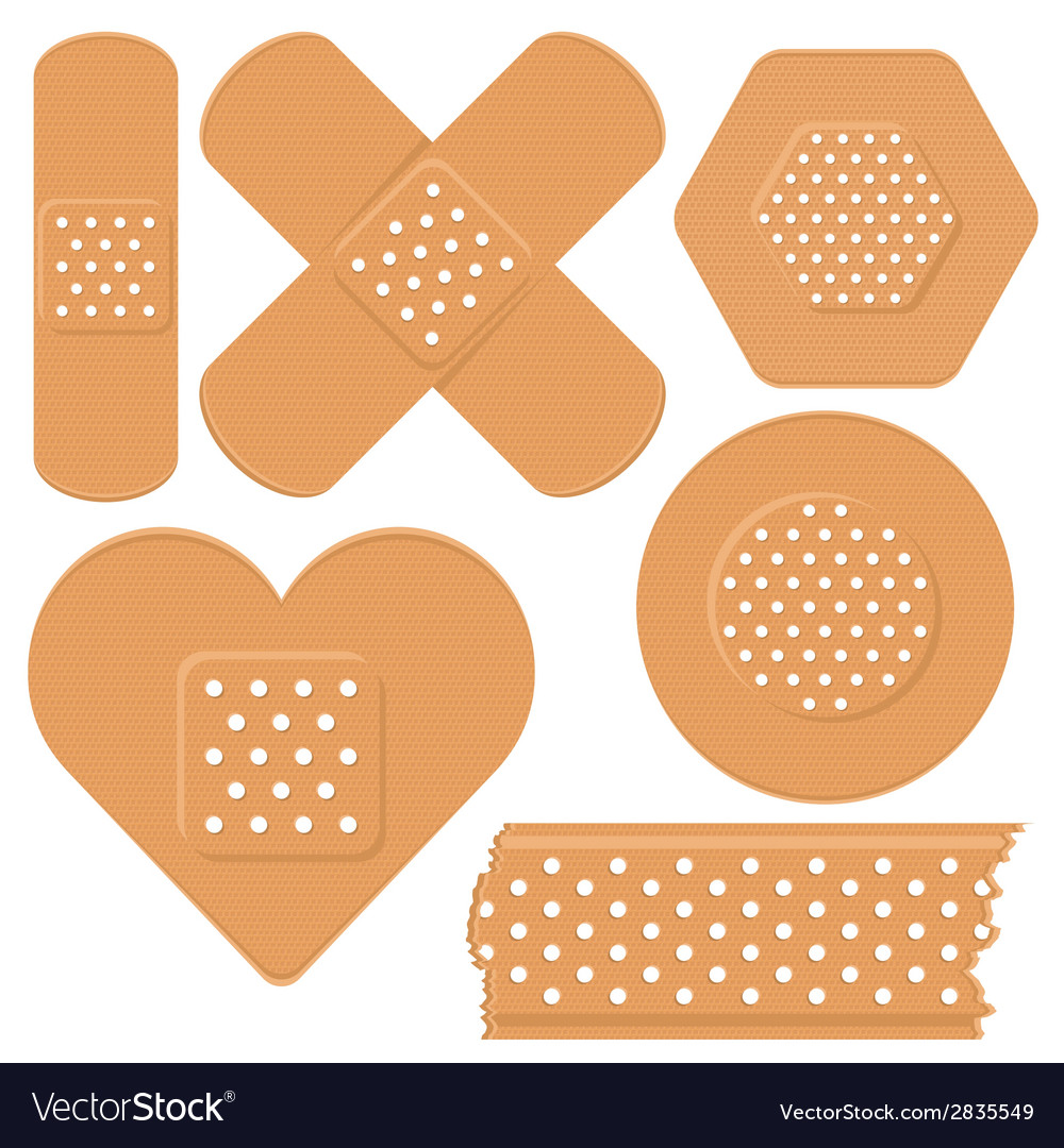 Adhesive plaster vector | Price: 1 Credit (USD $1)