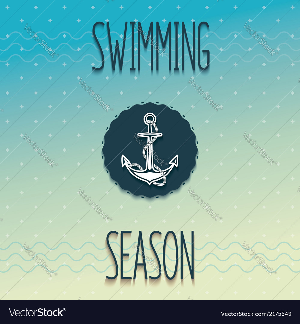Beginning swimming season vector | Price: 1 Credit (USD $1)