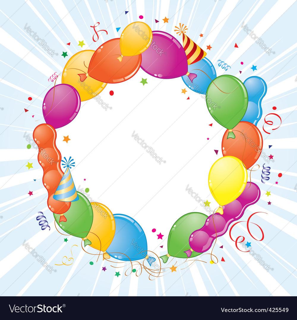 Birthday frame vector | Price: 1 Credit (USD $1)