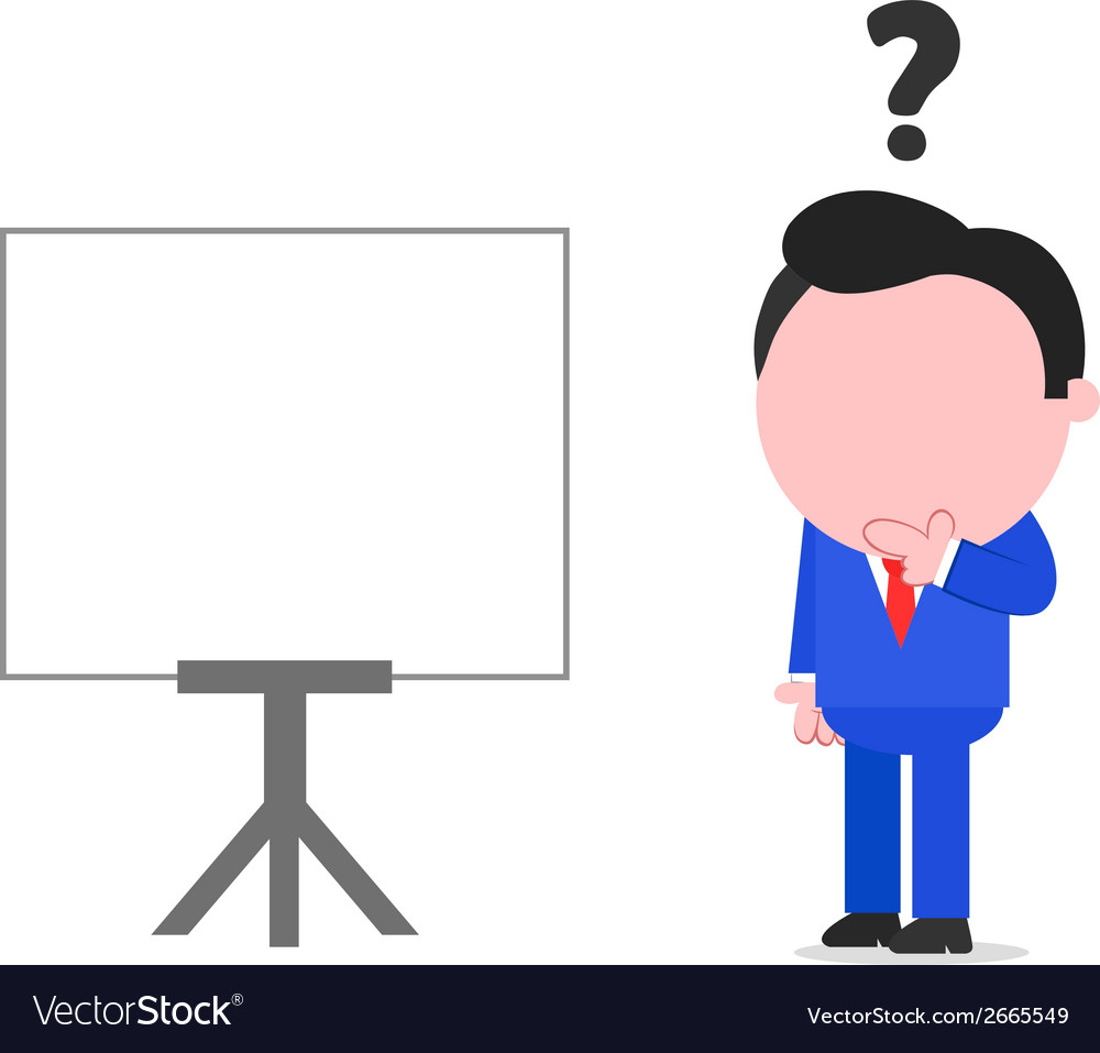 Confused businessman beside chart vector | Price: 1 Credit (USD $1)